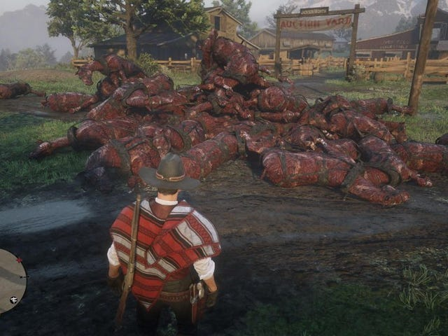 <i>Red Dead Online</i> Is Filled With Massive Piles Of Dead And Burned Horses