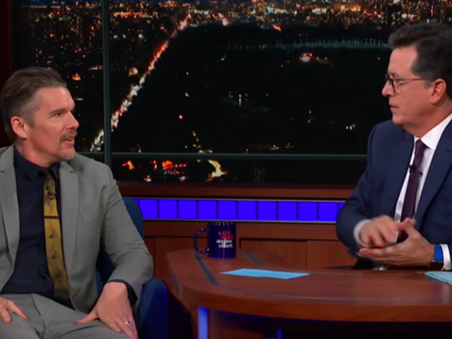 Ethan Hawke reveals the best Shakespeare advice he ever got on The Late Show