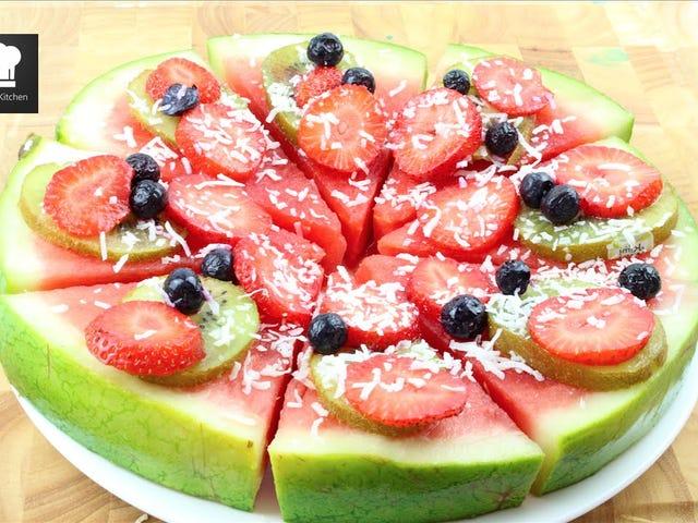 Vandmelon Pizza er den perfekte sommer snack