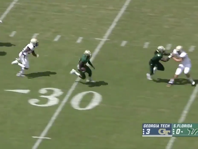 South Florida Freshman Scores On Consecutive 98-Yard Kickoff Returns