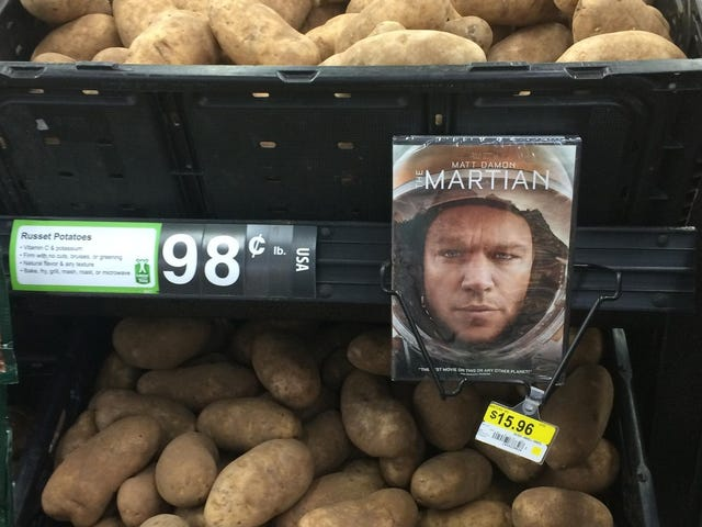 Que foto viral do DVD The Martian ao lado de batatas não é acidente