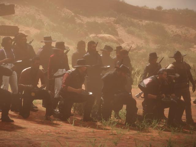 Un grand groupe de joueurs en ligne Red Dead a essayé de transporter des bols de soupe sur toute la carte
