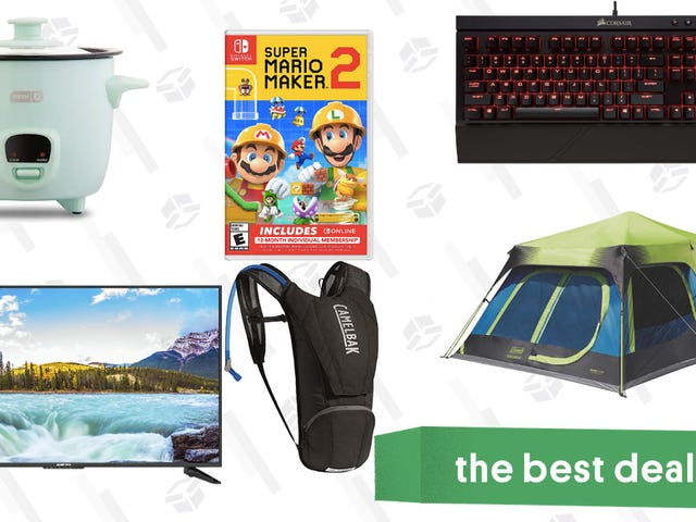 "Saturday's Best Deals: 50"" Sceptre TV, Coleman Cabin Tent, Dash Mini Rice Cooker, and More"