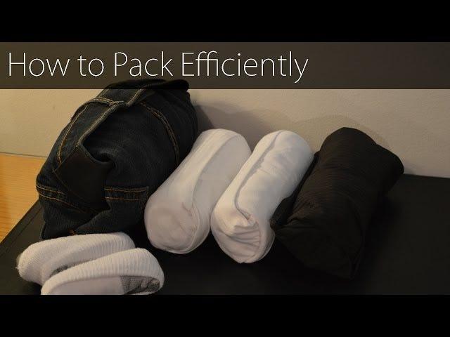 Ahorre espacio empacando sus camisas de manga larga con este método