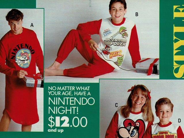 Enterrez-moi dans ces pyjamas Nintendo des années 1980