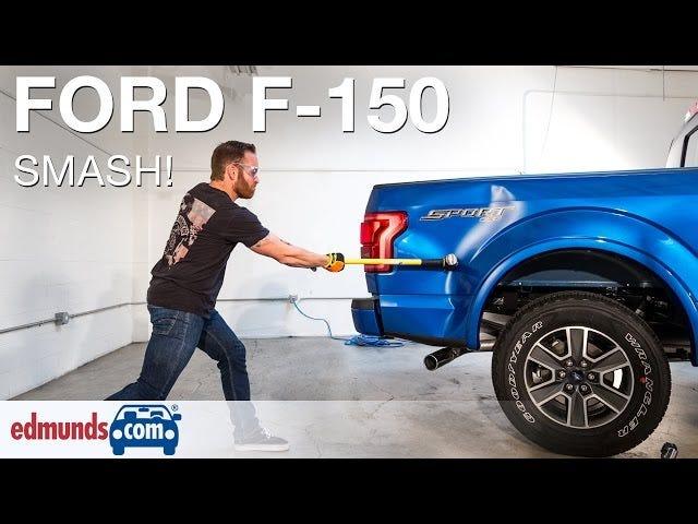 Tonton Apa Yang Terjadi Apabila Anda Sledgehammer Aluminium 2015 Ford F-150