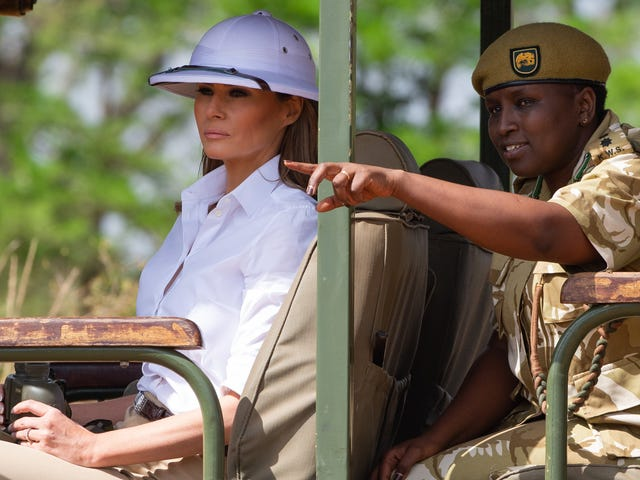 Send Help: Can Somebody Get Melania Trump and Her Pith Helmet Out of Africa?
