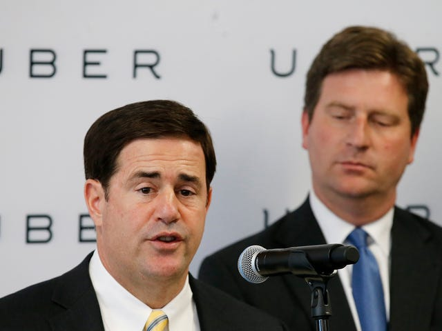 Arizona's Governor Allowed Uber To Test Autonomous Cars In 2016 Without Telling The Public: Report
