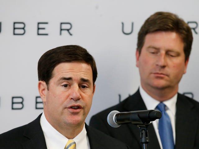 Губернатор Арізони дозволив Uber перевірити автономні автомобілі в 2016 році, не повідомляючи громадськості: Доповідь