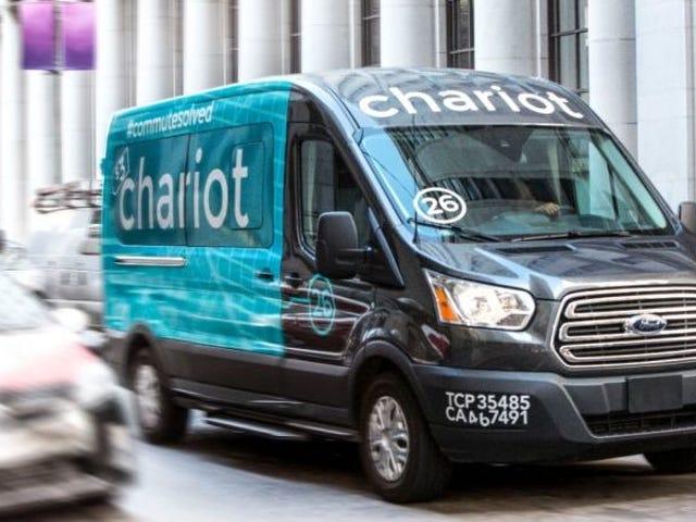 Калифорнии приостанавливает разрешение на работу для трансферов от Chariot компании Ford в случае неудачных проверок транспортных средств