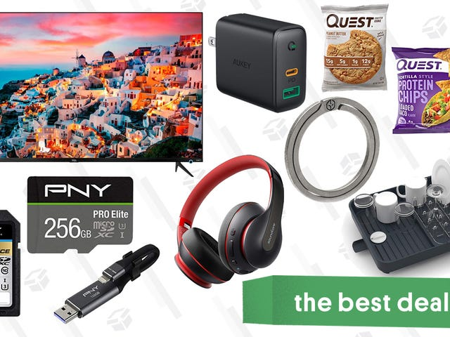 Tuesday's Best Deals: PNY Memory Products, Quest Protein, TCL TV, Neck Massagers, and More