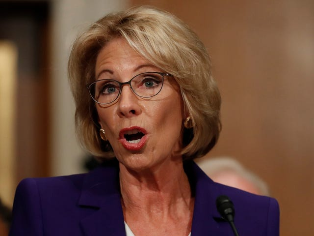 Betsy DeVos Says Schools Might Need Guns to Protect Themselves from Grizzly Bears