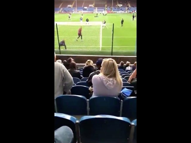 Soccer Fan Takes A Ball To The Dome And Handles It Like A Champ
