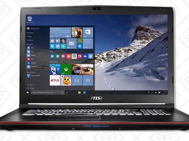 Leve seus jogos para ir com esses laptops MSI com desconto