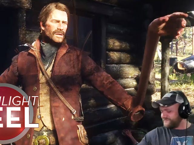 Glitched Red Dead Character Moseys Hard