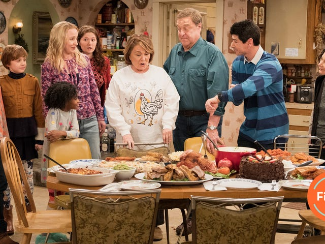 Roseanne tries to get back on track with an act of God