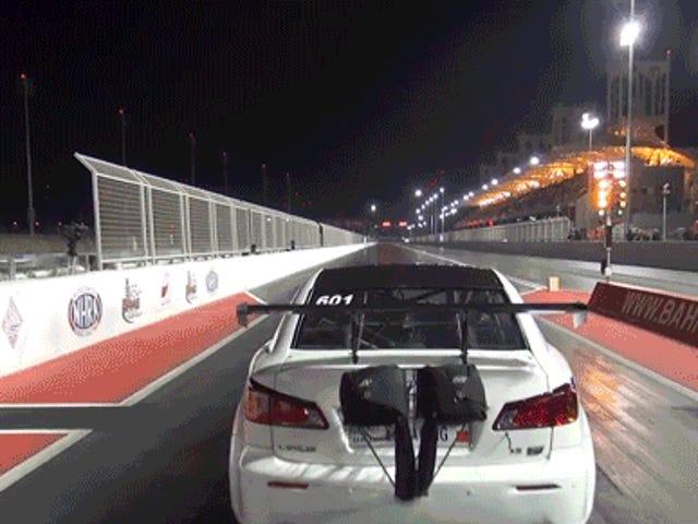 시계, 3000 HP Lexus IS F 시도, 충돌