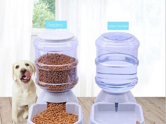 3.8L Pet Automatic Feeder Dog/Cat Drinking Bowl