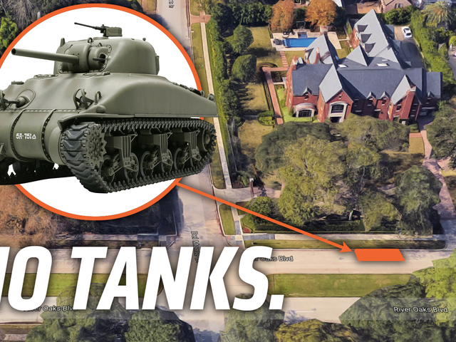 Homeowners' Association Is Very Upset About Man's WWII Tank But They're Welcome To Try And Tow It
