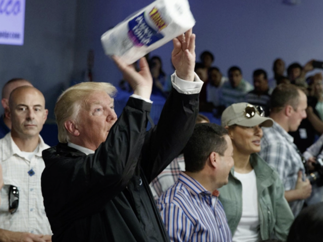 Never Forget That Y'all's Bum-Ass President Threw Paper Towels at Puerto Ricans and Didn't Even Buy Bounty