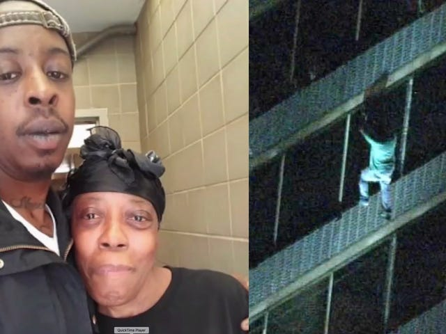 Man Climbs 15 Stories to Save Mother From Burning Building