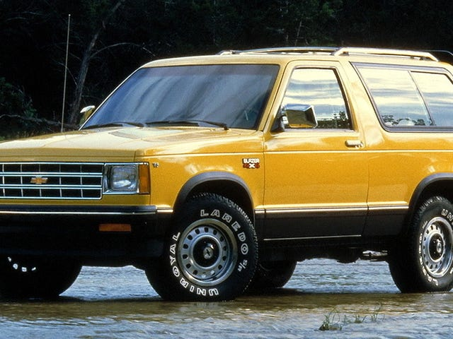 The Blazer could go on land, it could go on water, it could go on Mars. Also, that's a nice shade of yellow.
