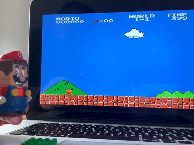 Someone Turned Lego's Super Mario Into a Controller for the Super Mario Bros. Video Game