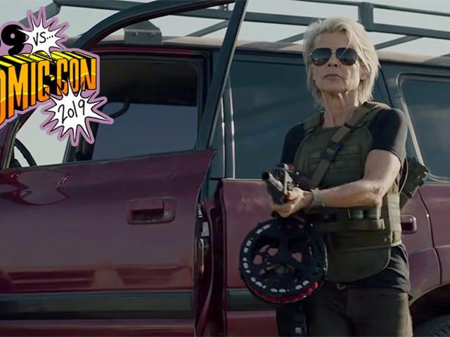 Listen to Sarah Connor Say 'Metal Motherfucker' in the New Terminator: Dark Fate Featurette