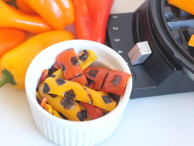 Blister Sizzling Strips ของ Bell Pepper ในเครื่องทำวาฟเฟิลของคุณ