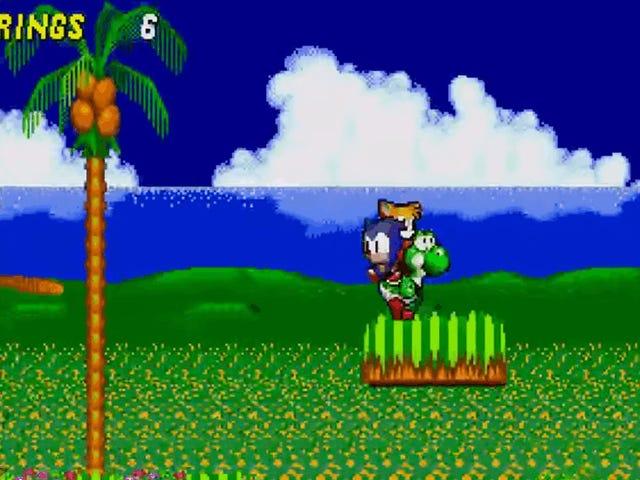 A Hacker Menurunkan Yoshi Ke <i>Sonic 2</i> , Dan Ia Menakjubkan