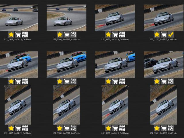Ayúdame a elegir fotos del día de la pista para comprar