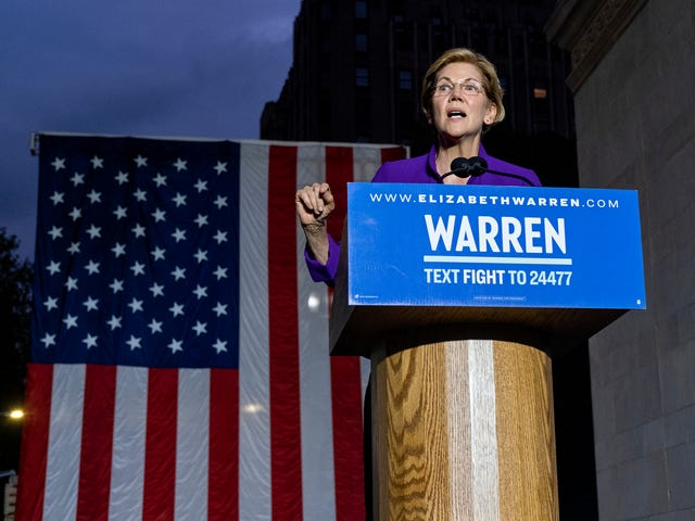 Contemplating President Warren With 20,000 Other People in New York City