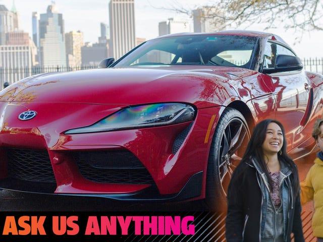 Tidak ada yang belanja silang dengan Toyota Supra Dengan Apa Pun