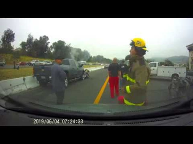 Horrific Temecula Freeway Crash YT footage (Cali)