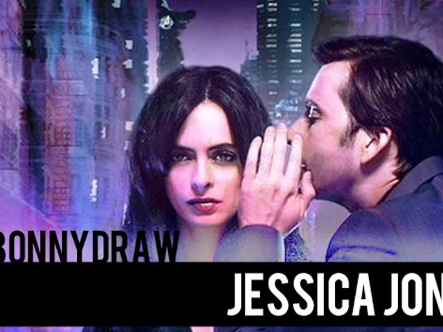 SeeBonnyDraw! Jessica Jones and Kilgrave, in Speed Painting Form!