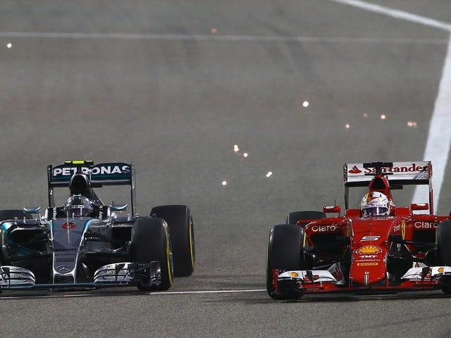 Binibigyan Rosberg Räikkönen Ikalawang Lugar Sa Isang Silver (Mga Arrow) Platter