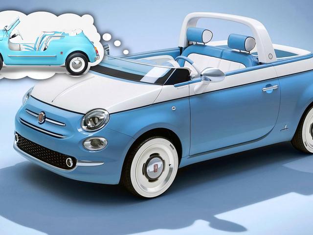 Fiat celebra il 60 ° anniversario della Fiat Jolly con questa deliziosa 500 cabriolet