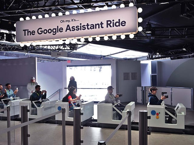 Google Is Blitzing CES with a Literal Rollercoaster Full of Google Assistant Tech