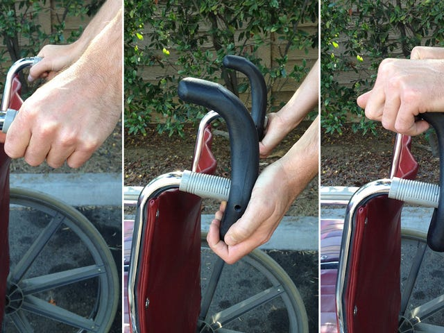 Redesigned Handles Make It Easier To Push and Pull a Wheelchair