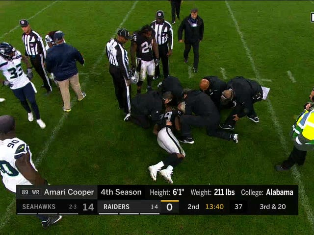 No Flags Thrown After Helmet-To-Helmet Hit On Amari Cooper