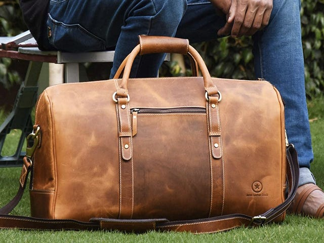 Travel In Style With These Discounted Leather and Waxed Canvas Duffel Bags
