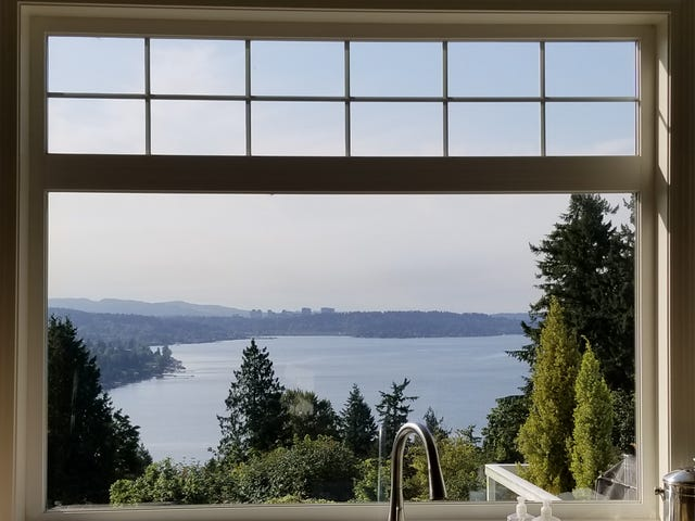 View from a client's home