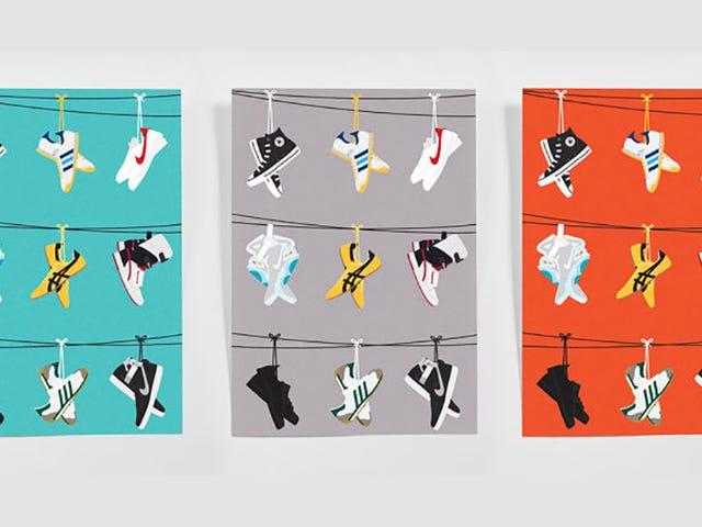Filmfanerne vil elske disse plakater af berømte Hollywood Sneakers