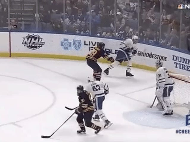 Ryan O'Reilly Gets Sweet Unintentional Assist From Referee