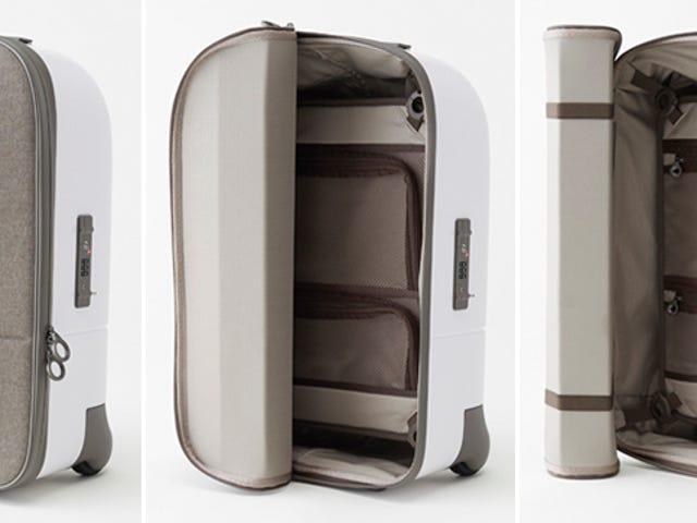 एक रोल-अप ढक्कन के साथ एक बेहतर सूटकेस जिस तरह से कभी नहीं है