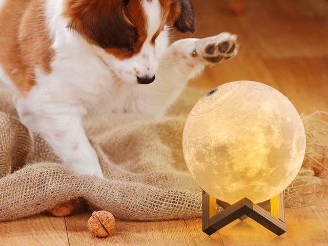 Give Into the Instagram Pressure and Buy a Moon Lamp From Today's Amazon Gold Box