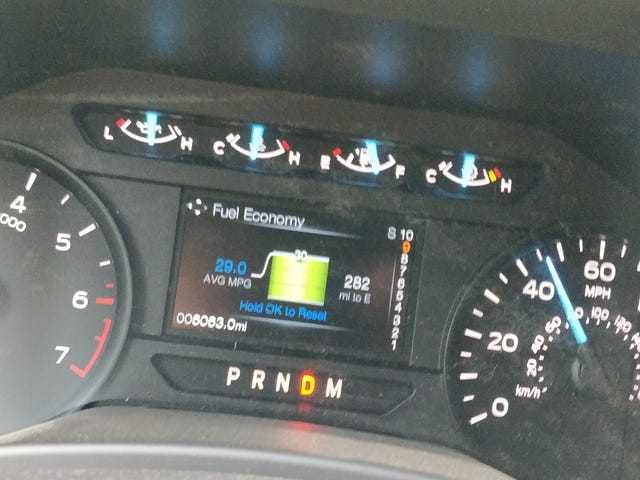 Hyper-mileing the EcoBoost F150 2: Numbers Of Unusual Size