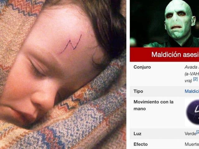 La cicatriz de Harry Potter no es un rayo, sino el movimiento de la maldición Avada Kedavra