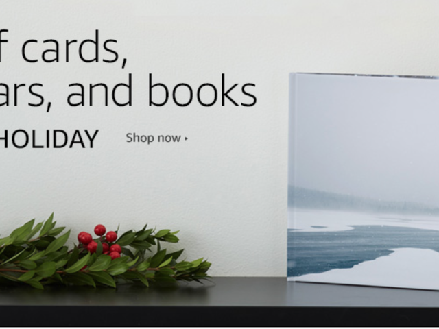 The Perfect Holiday Gift: Save 60% on Custom Photo Books, Calendars, and Cards From Amazon