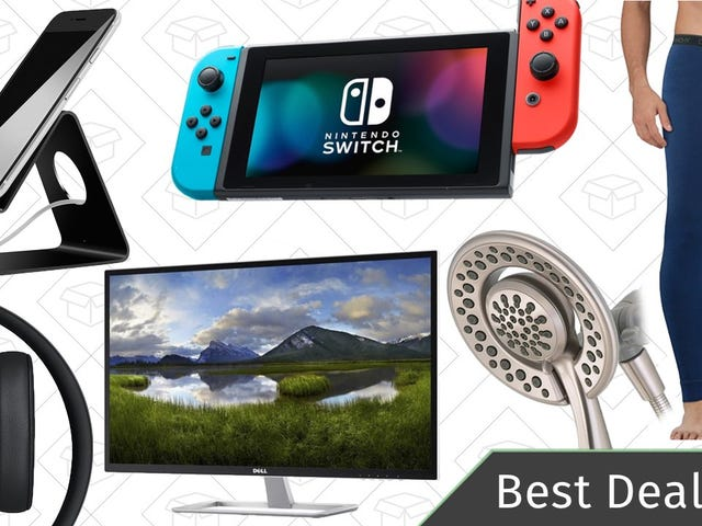 Saturday's Best Deals: Nintendo Switch, Massive Monitor, Delta Shower Head, and More